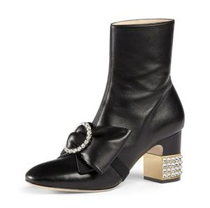 Gucci bow bootie